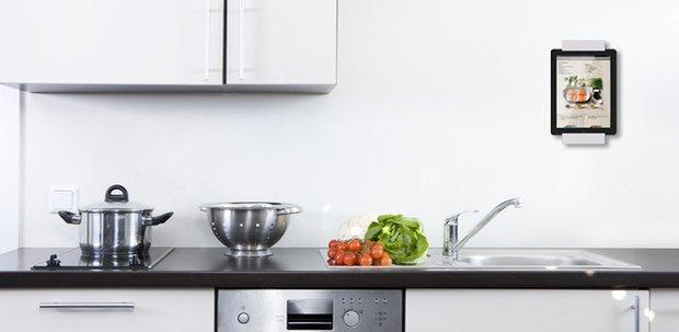 Ipad houder voor thuis for Keuken ontwerpen op ipad