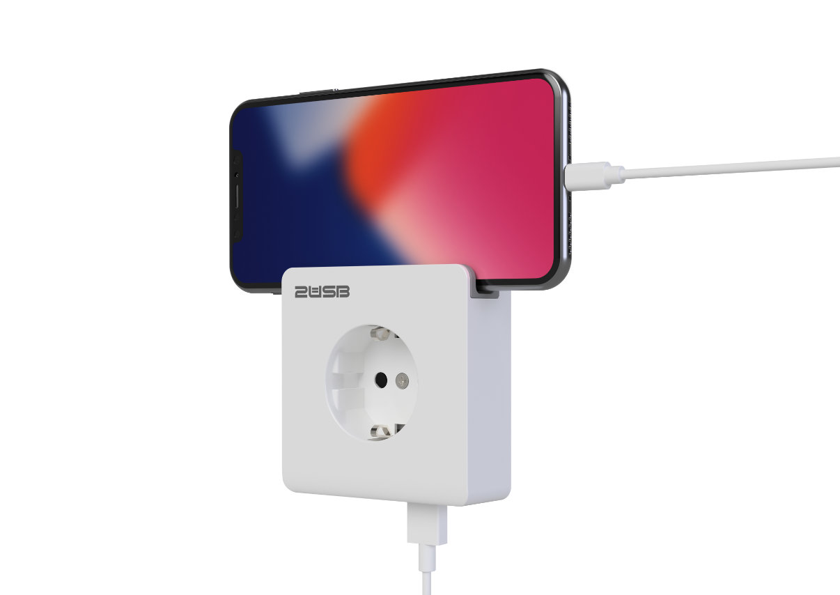 Easy charging with the USB Wall Socket Outlets from 2USB.EU